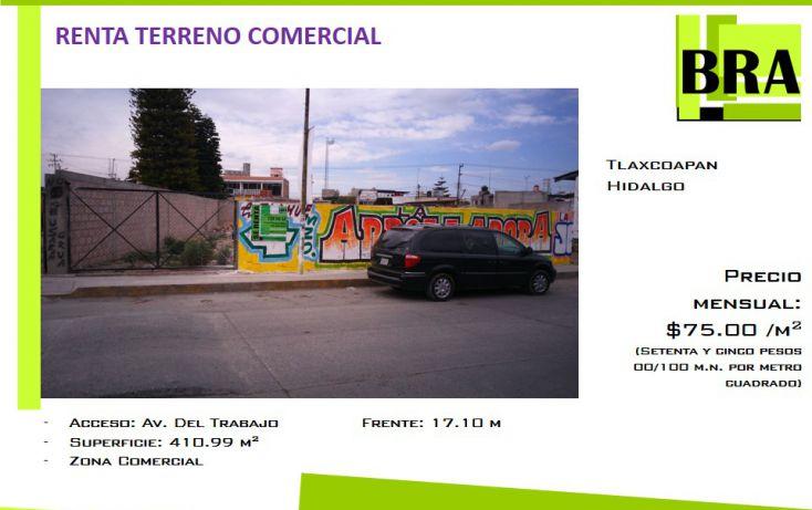 Foto de terreno comercial en renta en, centro, tlaxcoapan, hidalgo, 1693728 no 01