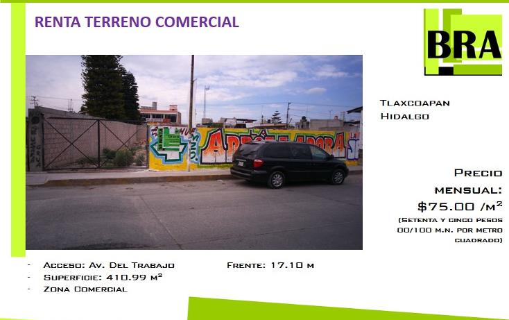 Foto de terreno comercial en renta en  , centro, tlaxcoapan, hidalgo, 1693728 No. 01