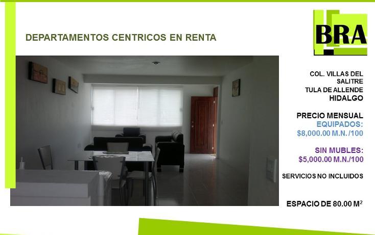 Foto de departamento en renta en  , centro, tula de allende, hidalgo, 1477701 No. 01