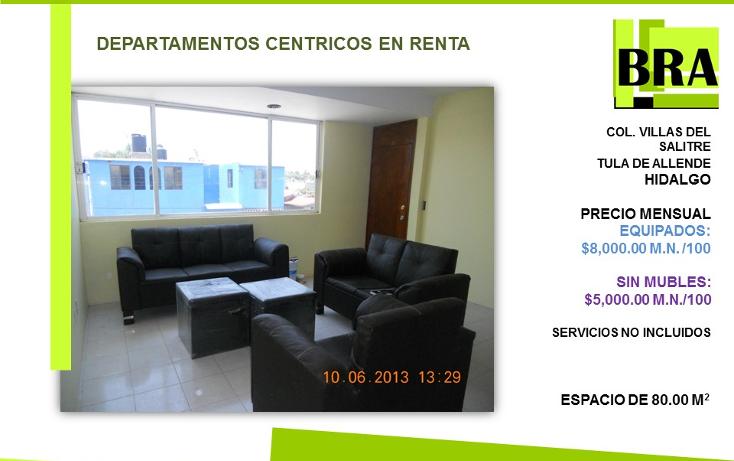 Foto de departamento en renta en  , centro, tula de allende, hidalgo, 1478051 No. 01