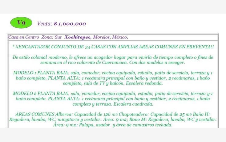 Foto de casa en venta en  , centro, xochitepec, morelos, 783597 No. 02