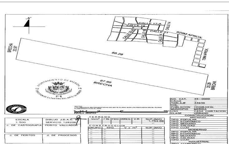 Foto de terreno habitacional en venta en  , chablekal, m?rida, yucat?n, 1043875 No. 01