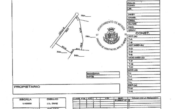 Foto de terreno habitacional en venta en, chablekal, mérida, yucatán, 1060255 no 08