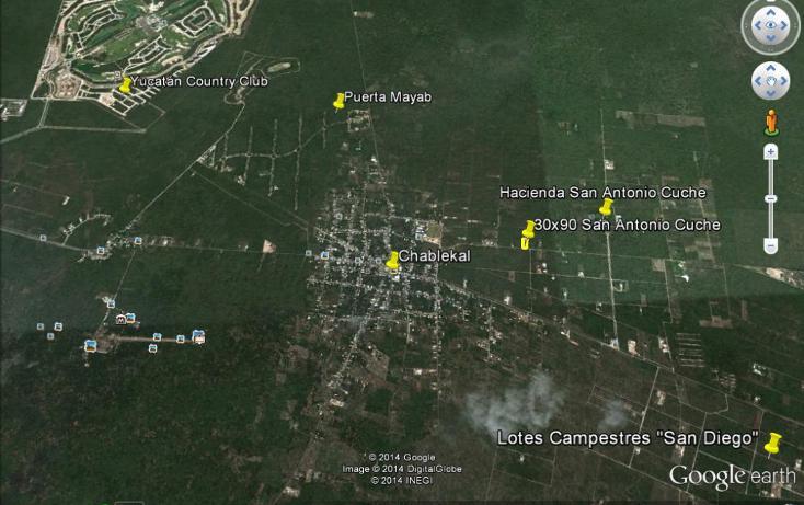 Foto de terreno habitacional en venta en  , chablekal, mérida, yucatán, 1264503 No. 03