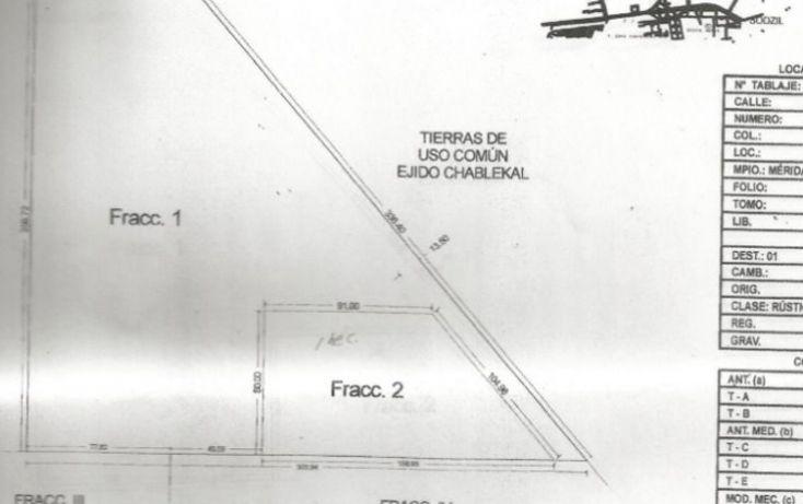 Foto de terreno habitacional en venta en, chablekal, mérida, yucatán, 1692790 no 03