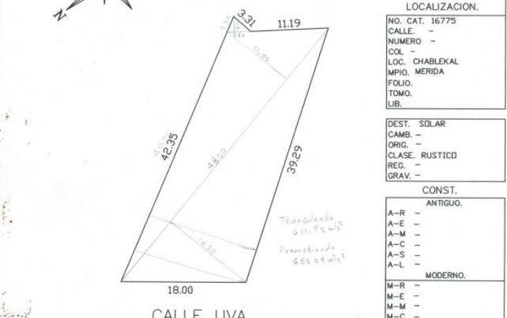 Foto de terreno habitacional en venta en, chablekal, mérida, yucatán, 2002858 no 04