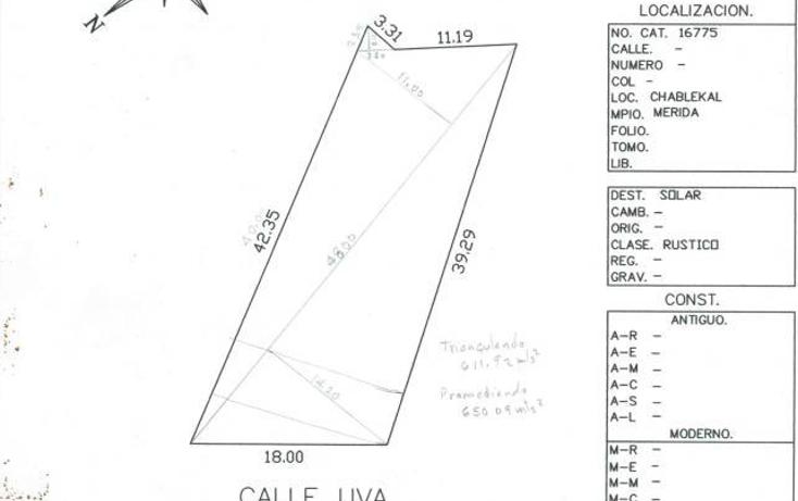 Foto de terreno habitacional en venta en  , chablekal, mérida, yucatán, 2002858 No. 04