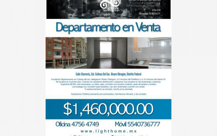 Foto de departamento en venta en charrería 25, colina del sur, álvaro obregón, df, 1666426 no 01