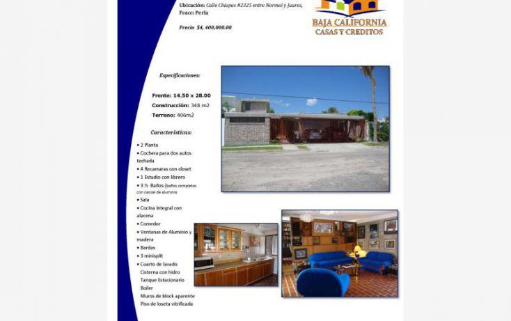Foto de casa en venta en chiapas 2325, perla, la paz, baja california sur, 1623132 no 01