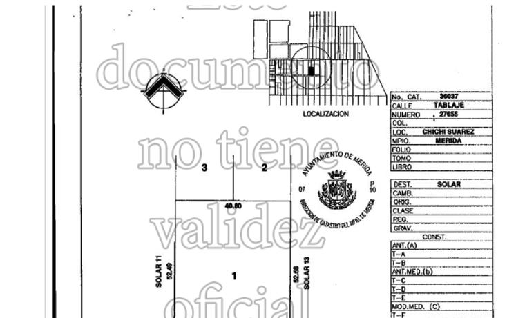 Foto de terreno habitacional en venta en  , chichi suárez, mérida, yucatán, 1055407 No. 02