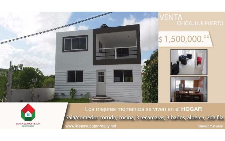 Foto de casa en venta en  , chicxulub, chicxulub pueblo, yucatán, 1928810 No. 01