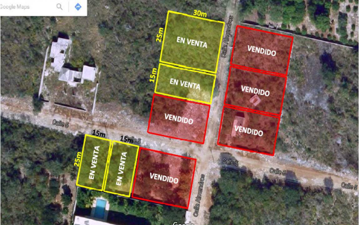 Foto de terreno habitacional en venta en  , cholul, mérida, yucatán, 1062225 No. 01