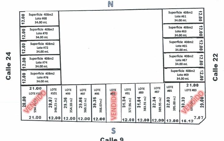 Foto de terreno habitacional en venta en  , cholul, m?rida, yucat?n, 1062977 No. 02