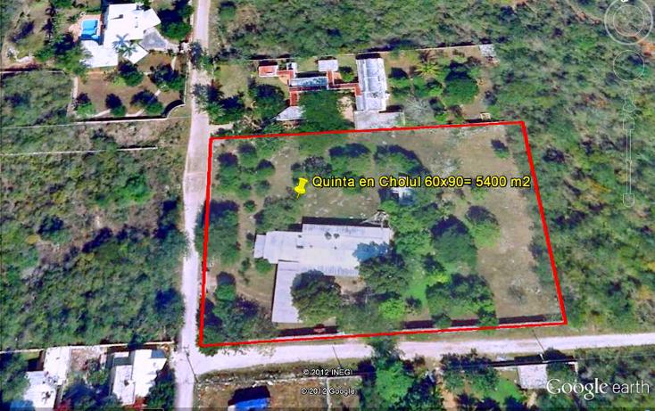 Foto de terreno habitacional en venta en  , cholul, mérida, yucatán, 1071149 No. 01