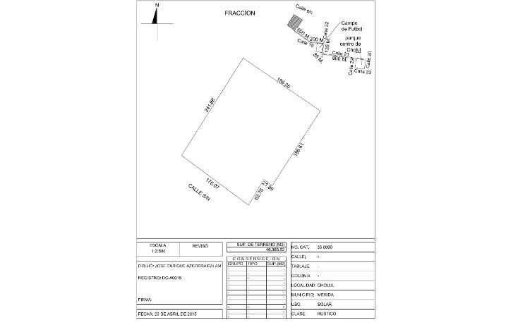 Foto de terreno habitacional en venta en  , cholul, mérida, yucatán, 1072355 No. 03