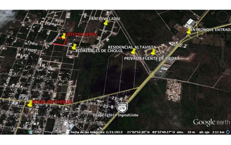 Foto de terreno habitacional en venta en  , cholul, m?rida, yucat?n, 1277553 No. 02