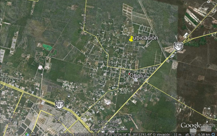 Foto de terreno habitacional en venta en  , cholul, m?rida, yucat?n, 1277553 No. 03