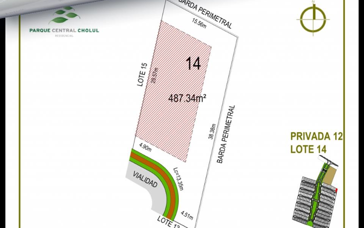 Foto de terreno habitacional en venta en  , cholul, mérida, yucatán, 1406243 No. 03
