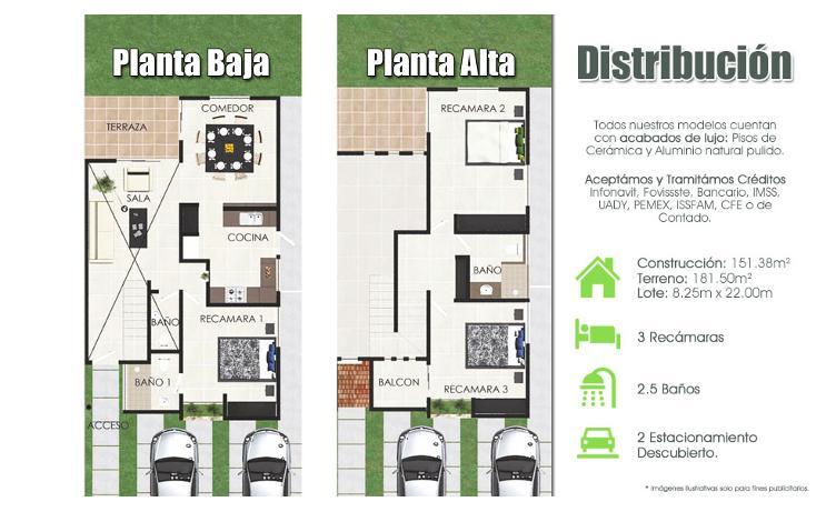 Foto de casa en venta en  , cholul, mérida, yucatán, 1430175 No. 02