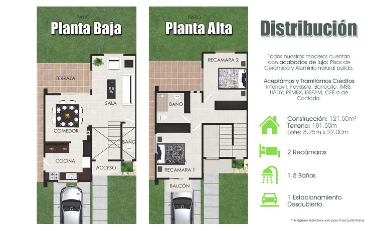 Foto de casa en venta en  , cholul, mérida, yucatán, 1430735 No. 02