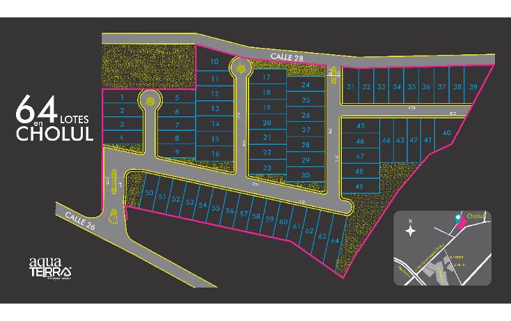 Foto de terreno habitacional en venta en  , cholul, m?rida, yucat?n, 1441935 No. 01