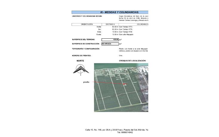 Foto de terreno habitacional en venta en  , cholul, mérida, yucatán, 1624830 No. 04
