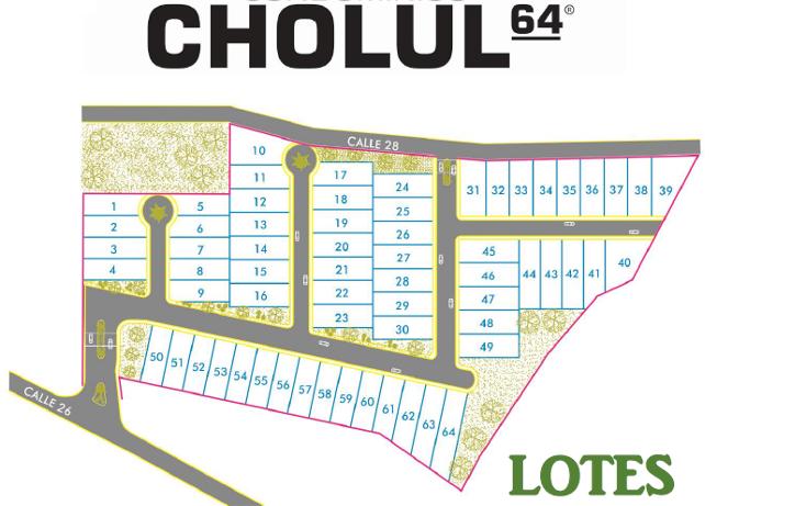 Foto de terreno habitacional en venta en  , cholul, m?rida, yucat?n, 1674618 No. 02