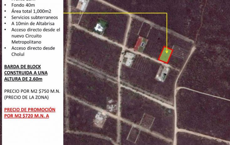 Foto de terreno habitacional en venta en, cholul, mérida, yucatán, 1698528 no 01
