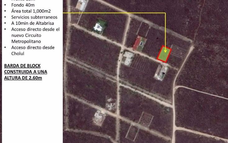 Foto de terreno habitacional en venta en  , cholul, m?rida, yucat?n, 1698528 No. 01