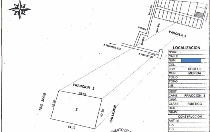 Foto de terreno habitacional en venta en  , cholul, mérida, yucatán, 2015808 No. 01