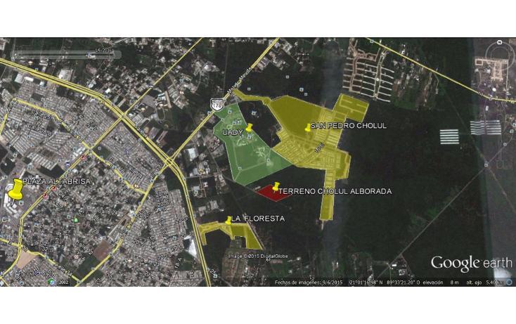 Foto de terreno habitacional en venta en  , cholul, mérida, yucatán, 2037224 No. 01
