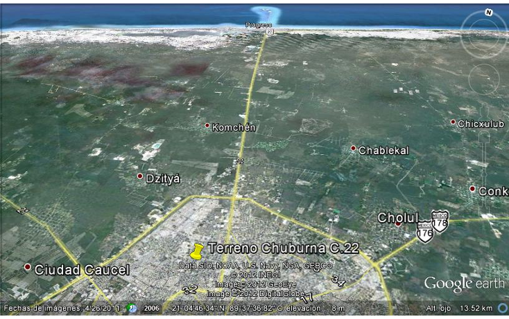 Foto de terreno habitacional en venta en  , chuburna de hidalgo, m?rida, yucat?n, 1063049 No. 04