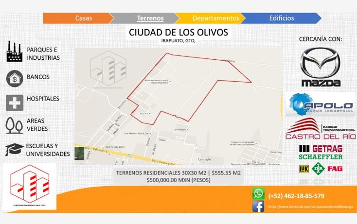 Foto de terreno habitacional en venta en  , ciudad de los olivos, irapuato, guanajuato, 1325959 No. 01