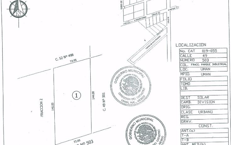 Foto de terreno comercial en venta en  , ciudad industrial, umán, yucatán, 1052401 No. 01