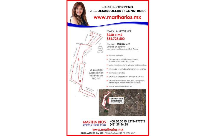 Foto de terreno comercial en venta en  , ciudad satélite, san luis potosí, san luis potosí, 1616044 No. 02