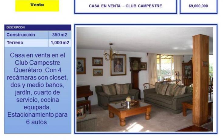 Foto de casa en venta en club de golf campestre, del valle, querétaro, querétaro, 754195 no 01