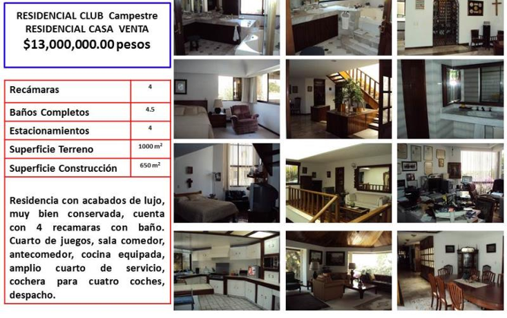 Foto de casa en venta en  nd, club campestre, querétaro, querétaro, 754221 No. 01
