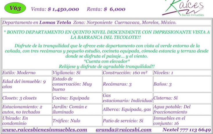 Foto de departamento en venta en, club felicidad, cuernavaca, morelos, 1451803 no 02
