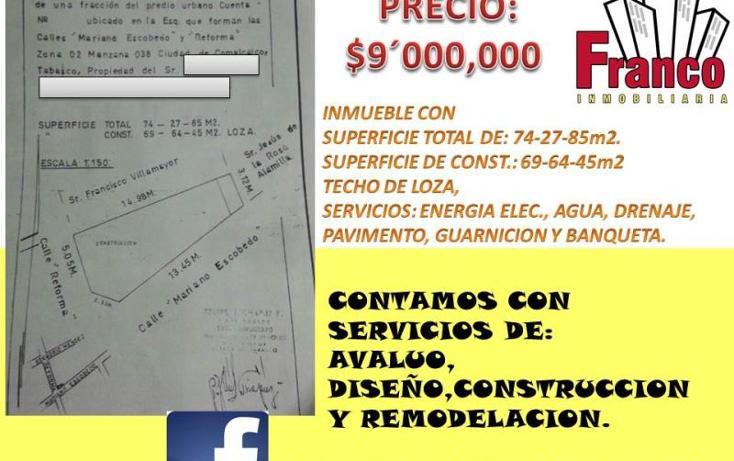 Foto de local en venta en  , comalcalco centro, comalcalco, tabasco, 1054247 No. 01