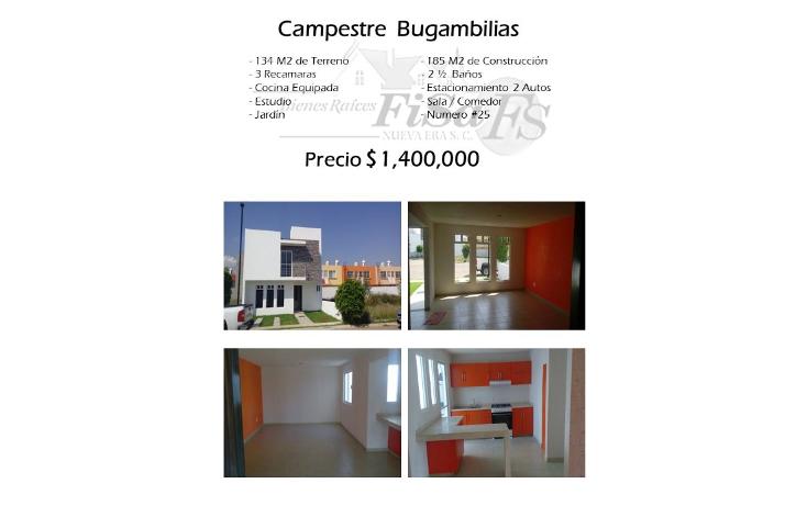 Foto de casa en venta en  , conjunto bugambilias, san juan del r?o, quer?taro, 1417785 No. 01