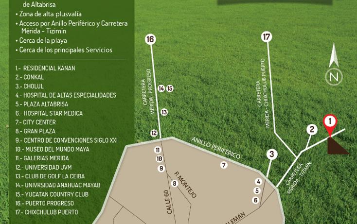 Foto de terreno habitacional en venta en  , conkal, conkal, yucatán, 1073769 No. 07
