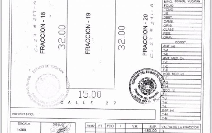 Foto de terreno habitacional en venta en, conkal, conkal, yucatán, 1244973 no 01