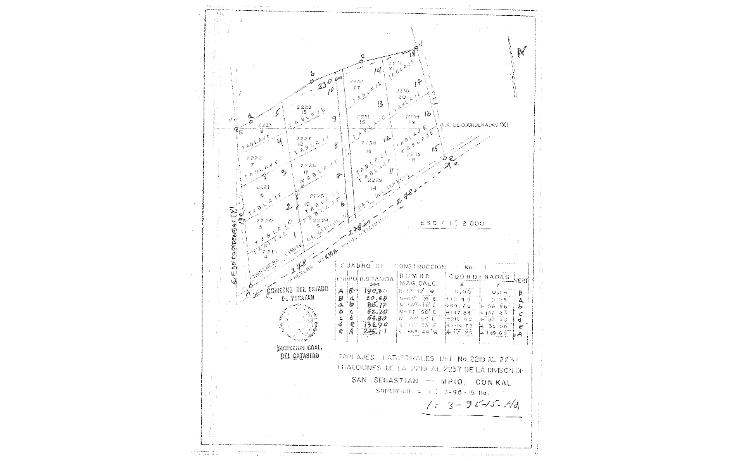 Foto de terreno habitacional en venta en  , conkal, conkal, yucat?n, 1323741 No. 02