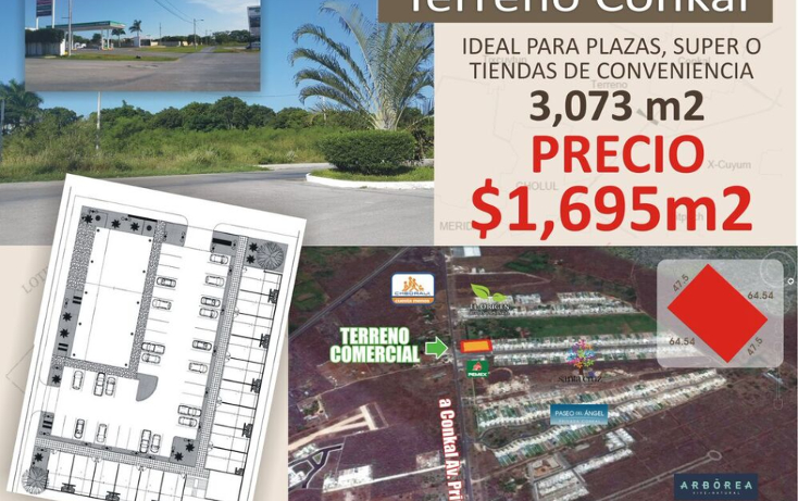 Foto de terreno comercial en venta en  , conkal, conkal, yucatán, 1492641 No. 04