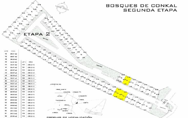 Foto de terreno habitacional en venta en  , conkal, conkal, yucat?n, 1550672 No. 02