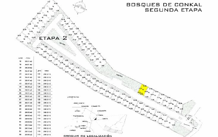 Foto de terreno habitacional en venta en  , conkal, conkal, yucatán, 1570474 No. 03