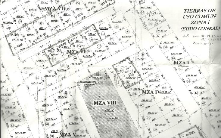 Foto de terreno habitacional en venta en  , conkal, conkal, yucatán, 1579180 No. 03