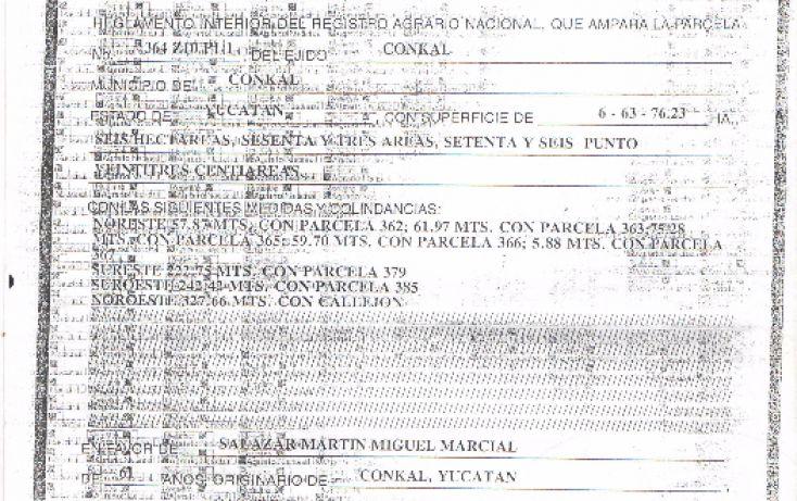 Foto de terreno habitacional en venta en, conkal, conkal, yucatán, 1600306 no 03