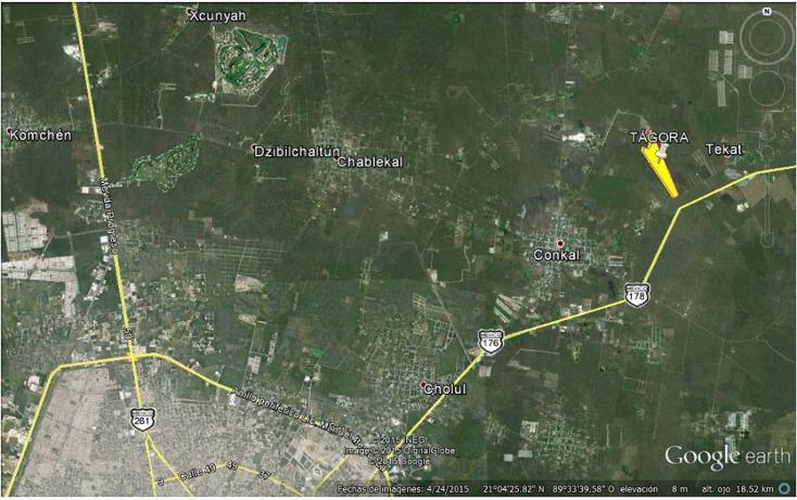 Foto de terreno habitacional en venta en  , conkal, conkal, yucatán, 1611700 No. 07