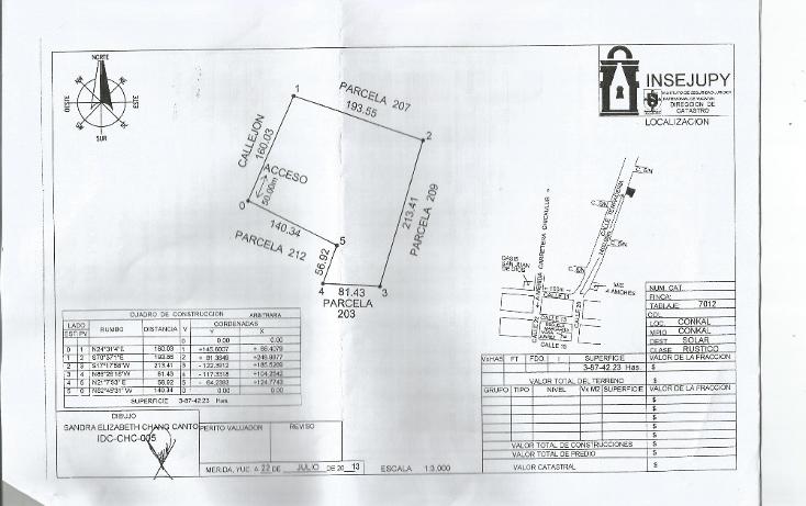 Foto de terreno habitacional en venta en  , conkal, conkal, yucat?n, 1666876 No. 01